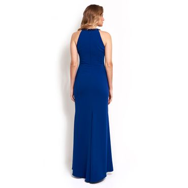 Vestido-Blueberry-longo-com-bordados-e-fenda-Badgley-Mischka---azul-royal_costas